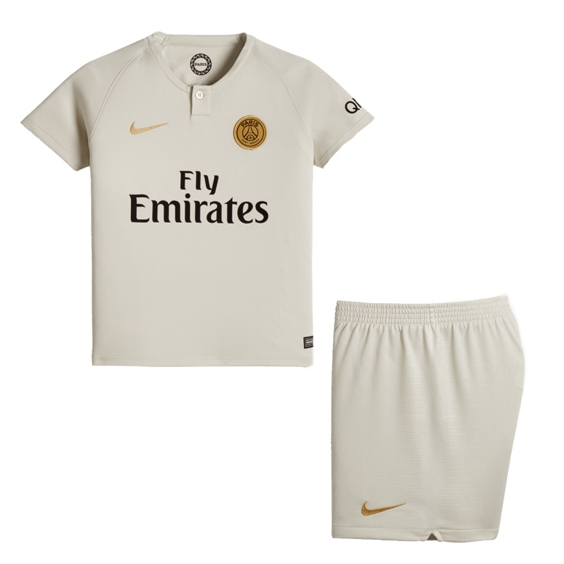 Kids PSG Soccer Jerseys 2018-19 Away Football Kits (Shirt + Shorts)